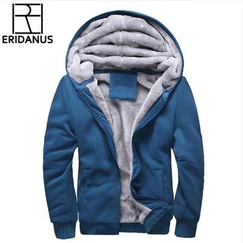 Trendy Hoodies Men 2018 Winter Jacket Fashion Thick Men's Hooded Sweatshirt Male Warm Fur Liner Sportswear Tracksuits Mens Coat X786 AT_94_13