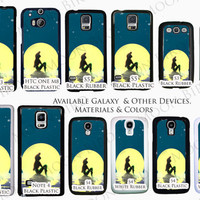 Disney Little Mermaid Ariel With the Moon Natural Colors Phone Case For Samsung Galaxy S3, S4, S5 Available Plastic or Rubber Phone Case