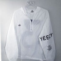 DCKKID4 adidas Yeezy 3 Hooded Zipper Jacket Coat Windbreaker