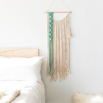 CREYXF7 Nordic tapestry fringed hand-woven bohemian art tapestry diy wall hangings decorative art