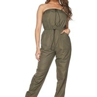 King Kylie Nylon Strapless Jumpsuit
