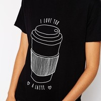ASOS T-Shirt with I Love You a Latte Print