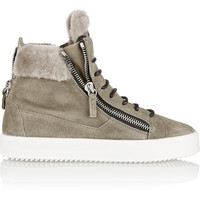 Giuseppe Zanotti - May London shearling-lined suede high-top sneakers