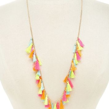 Multicolored Tassel Necklace