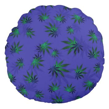Cannabis Round Pillow