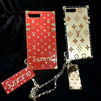 LV Supreme iPhone Phone Cover Case For iphone 6 6s 6plus 6s-plus 7 7plus H-AGG-CZDL