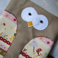 Owl Denim Pouch from Angel Hearts Crafts