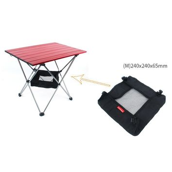 Outdoor Folding Table Storage Pouch Bag Picnic Portable Storage Basket Hanging Mesh Pouch Camping Organizer S/L