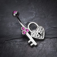 Key to My Heart Belly Button Ring