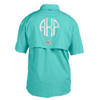 Monogrammed Fishing Shirt - Short Sleeve - Back & Front Monogram Included