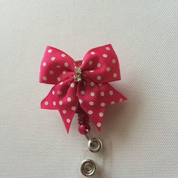 Little Bow Retractable Name Badge Holder