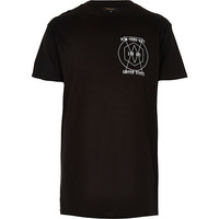 River Island MensBlack New York print crew neck t-shirt