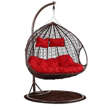 DCCKFS2 Hanging basket wicker living room hammock balcony adult nest cradle swing hanging chair indoor household single rocking chair
