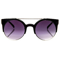MKL Accessories Sunglasses Money Maker in Black and Silver