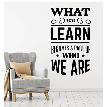 Vinyl Wall Decal School Classroom Quote Phrase Lettering Words Stickers Mural (g2722)