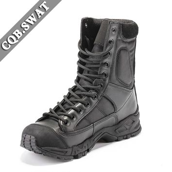 Outdoor Climing Hiking Tactical Boots Military Combat Boots Army black mens boots Breathable Wearable Sports Climbing Boot