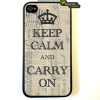Vintage Keep Calm iPhone 4s Case New Hard Fitted by KeepCalmCaseOn