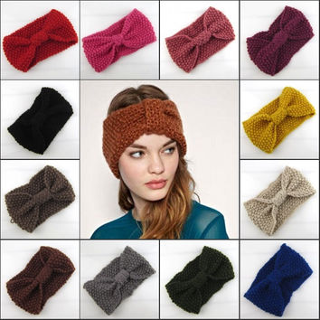 20 Colors Knitting Headband Bohemia Style Hairband Female Knit Hair Accessories Women Winter Haar Accessoires