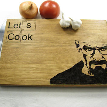 Breaking Bad cutting board,Heisenberg, Let's Cook, Anniversary Gift Personalised,Gift idea,Heisenberg cutting board,Fathers Gift
