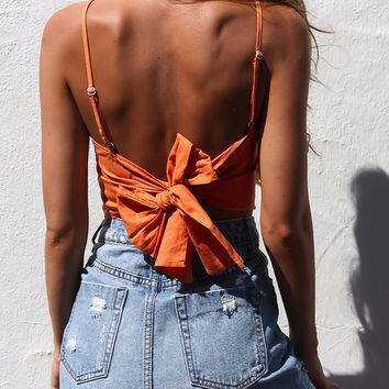 Veronica Back-Bow Crop Top