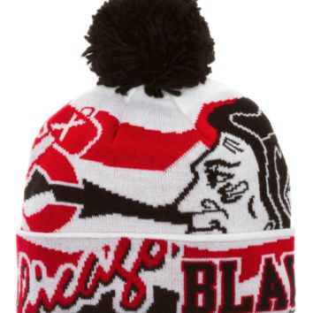 60b5daffaae689 CHICAGO BLACKHAWKS YOUTH 2014 NHL STADIUM SERIES POM KNIT HAT