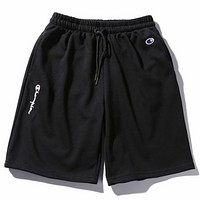 Champion summer men and women sports shorts casual five pants F0492-1 Black