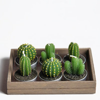 Cactus Tealight Candles - $14.00: ThreadSence, Women's Indie & Bohemian Clothing, Dresses, & Accessories