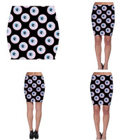 EYEBALL BODYCON SKIRT
