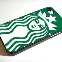 Starbuck Coffe Logo - iPhone 4 Case, iPhone 4s Case and iPhone 5 case Hard Plastic Case