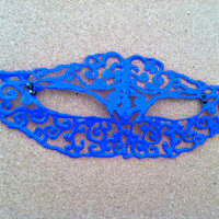 Dark Blue Masquerade Mask