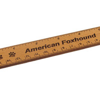American Foxhound 6 inch Alder Wood Ruler