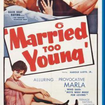 Married Too Young movie poster Sign 8in x 12in