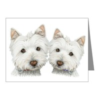 Two Cute West Highland White Dogs Note Cards (Pk o on CafePress.com