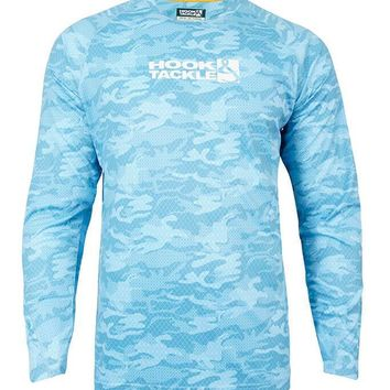 Men's Geo Camo L/S UV Fishing Shirt