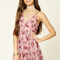 Floral Halter Cami Mini Dress