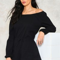 In All Bareness Off-the-Shoulder Romper | Shop Clothes at Nasty Gal!