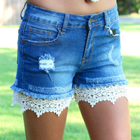 Crochet Lace Short Extenders {Cream}