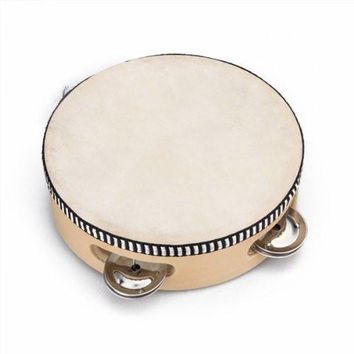 "SEWS 6"" Musical Tambourine Tamborine Drum Round Percussion for KTV Party"