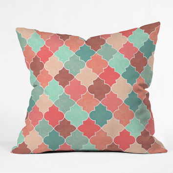 Jacqueline Maldonado Morocco Pastel Outdoor Throw Pillow