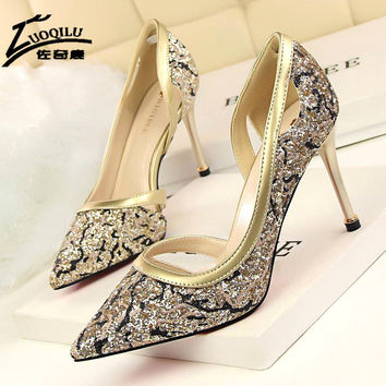 2017 women pumps silver red bottom high heels shoes gold stiletto heels purple ladies wedding shoes bride chaussure femme talon