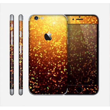 The Bright Gold Glowing Sparks Skin for the Apple iPhone 6