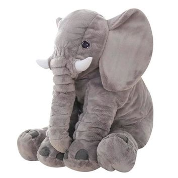 DCCKL3Z Gray 65cm Height Large Plush Elephant Doll Toy Kids Sleeping Back Cushion Cute Stuffed Elephant Baby Accompany Doll Xmas Gift