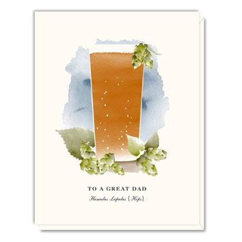 Toast to a Great Dad Card