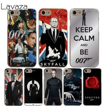 Lavaza 007 james bond Cover Case for iPhone X 10 8 7 6 6S plus Cases for Apple 5 5S 5C SE 4 4S Coque Shell