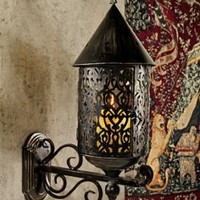 Home Decor | Wolvercote Manor Gothic Metal Candle Sconce