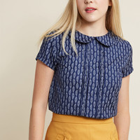 Play Tell Collared Top in Feathers