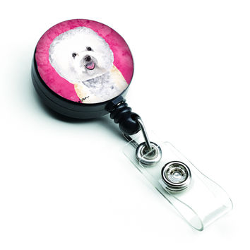 Bichon Frise Retractable Badge Reel or ID Holder with Clip