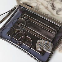 Free People Womens Metallic Travel Case