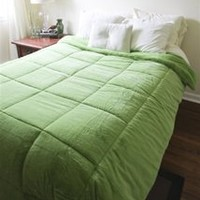 College Plush Comforter - Avocado Green - Twin XL - Extra Plush College Dorm Bed Comforter