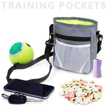 Classic Pet Dog Training Treat Snack Waist wear Bait Dog Obedience Agility Outdoor Pouch Food Bag Black/Gray Pet snack Pouch
